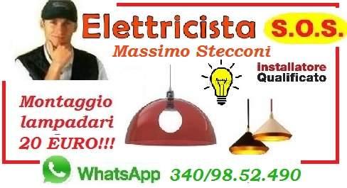 INSTALLAZIONE LAMPADARIO ALESSANDRINO DON BOSCO ROMA