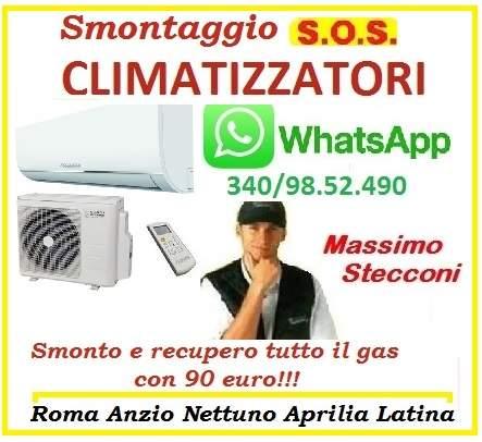 SMONTAGGIO CONDIZIONATORE NOMENTANO TIBURTINO ROMA