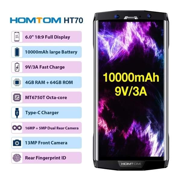 HOMTOM HT70 4G LTE - Smartphone sbloccato, 6,0 pollici
