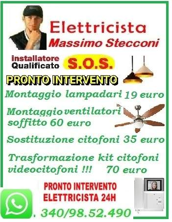 MONTAGGIO VENTILATORE LAMPADARIO A SOFFITTO ROMA