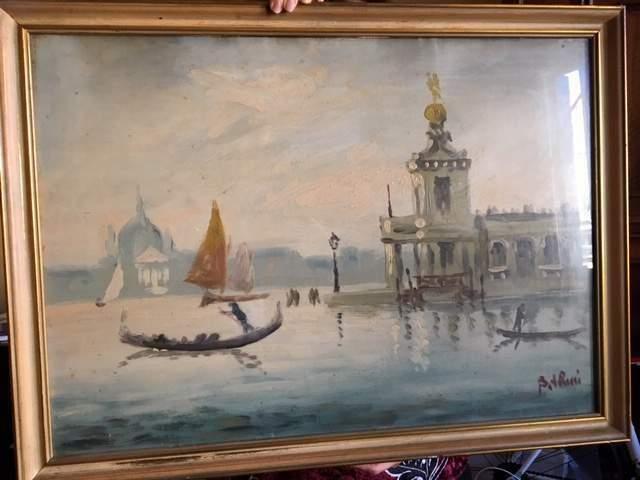 Dipinto su tavola - Venezia: Dogana Salute