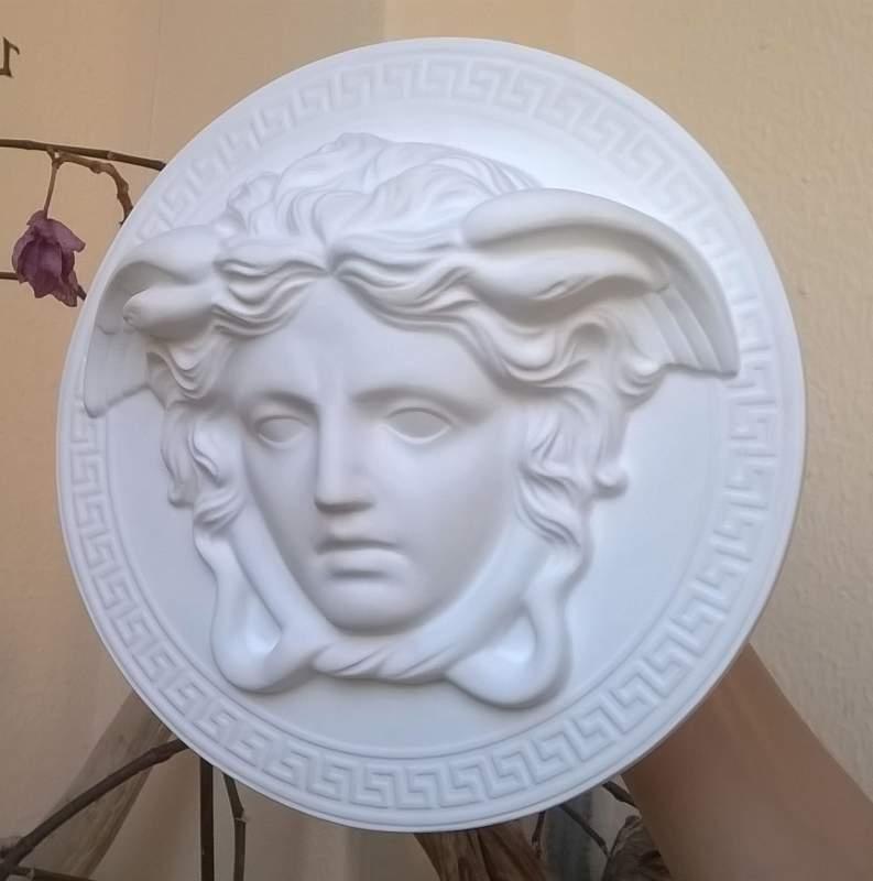 Mito della Gorgone Medusa, scultura diametro 20cm