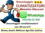 SMONTAGGIO CONDIZIONATORE MONTESACRO TRIESTE ROMA