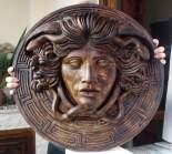 Medusa scultura color bronzo ottocento diametro 60 cm